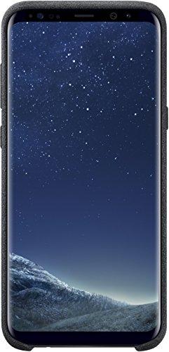 Samsung EF-XG955ASEGWW Alcantara Cover (geeignet für Samsung Galaxy S8+) grau