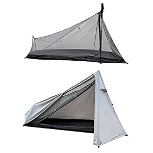 [Amazonブランド] Eono(イオーノ) テント 1人用 ツーリングテント キャンプ アウトドア 登山 二重層 軽量 ワンポール 簡単設営 防虫 換気 防水防風 収納バッグ付き