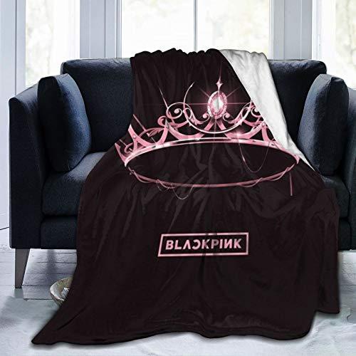 Ddu-Du Ddu-Du para fans Jisoo, Jennie, Rosé, Lisa K-POP álbumes negro-rosa Mantas de forro polar ultra suaves y mullidas colcha aire acondicionado 127 x 101 cm