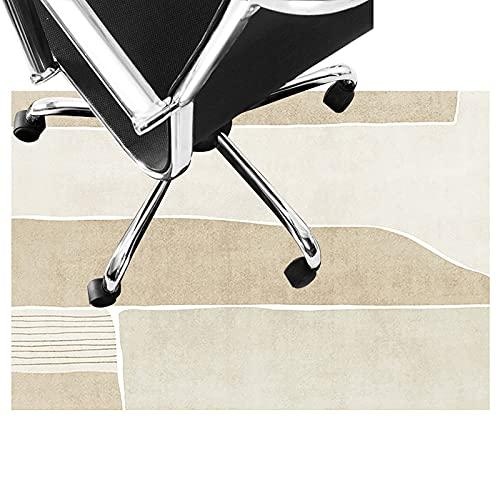 LLKK Alfombrilla protectora para silla de oficina silenciosa para alfombra y piso, lavable, antideslizante, fácil de limpiar (tamaño: 80 x 160 cm, color: A)