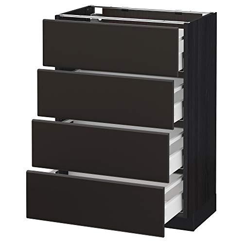 METOD/Maxim bashytt 4 frnts/4 lådor 60 x 39,2 x 88 cm svart/Kungsbacka antracit