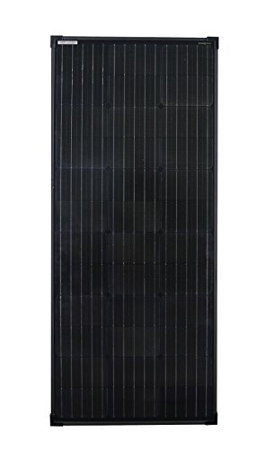 enjoysolar® monokristallines 100W Full Black Módulo Solar Mono 100W 12V Panel Solar Ideal para caravana, jardín häuse, Boot última Edition con 156mm celdas Medidas 1190* 510* equivalente