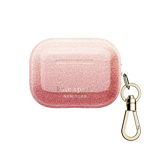 kate spade new york AirPods Pro Case  Ombre Glitter Sunset/Pink Multi/Gold Foil Logo