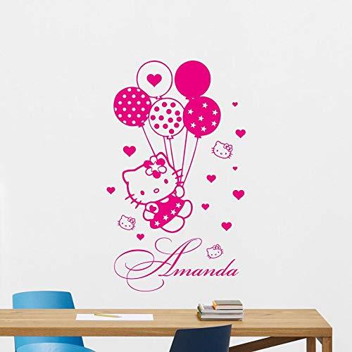 Cute kitty pegatinas de pared para niños, niñas, niñas, dormitorio, guardería, decoración de interiores, vinilo, pegatinas para ventanas, murales de arte