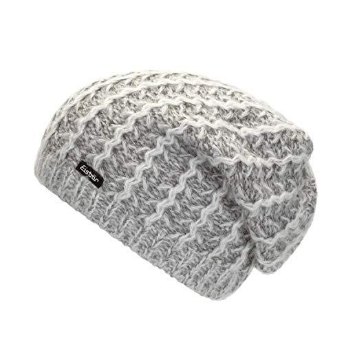 Eisbär Damen Jael OS Mütze, hellgrau/Weiß, One Size