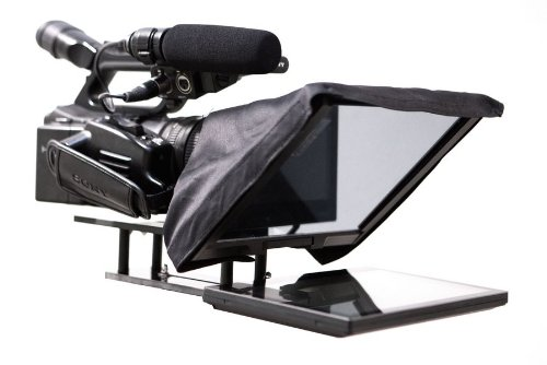 """Professional Teleprompter Kit with 10"""" LCD Monitor, Case, Prompter Software & AA Battery Adapter"""