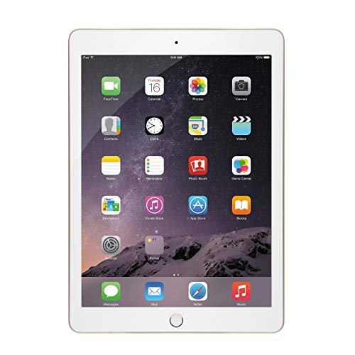 Apple iPad Air 2 9.7-Inch, 32GB Tablet (Gold) (Renewed)