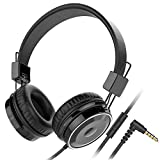 Baseman Wired Foldable Headphones with Mic, Stereo Heavy Bass Over Ear Headset for iPhone Cell Phones Laptop...