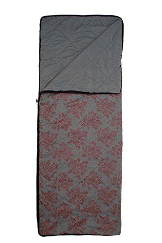Grüezi-Bag WellhealthBlanket Wool Deluxe, wendbare Wolldecke, 200 x 150 cm, 1600g, Polyester/Wolle, gerollt ca. 21 x 37 cm, Hüttendecke, grau/Berry