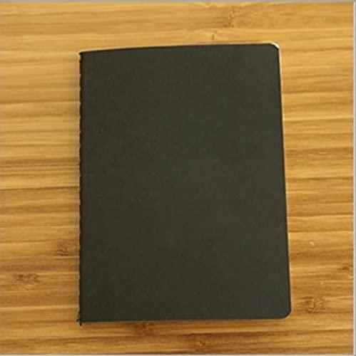 ZJF Art CrafTable Office Supplies Diario Libro Retro El Papel Kraft Blank Memo Pad Boceto Book Bloc de notAP1PC (Color : Black, tamaño : 10x14cm)