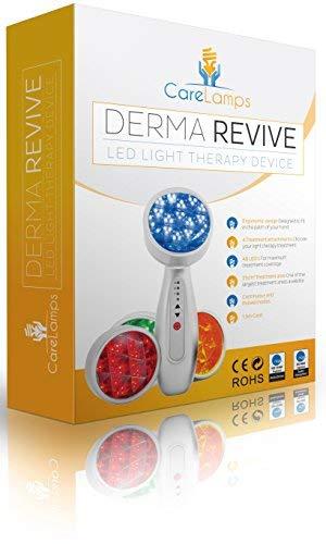 LED Derma Revive - Anti acné, Anti âge, Boost Collagène, Enlever les rides, Relaxation musculaire, Traiter Roscea Rouge, Bleu, Vert, Jaune LED Luminothérapie