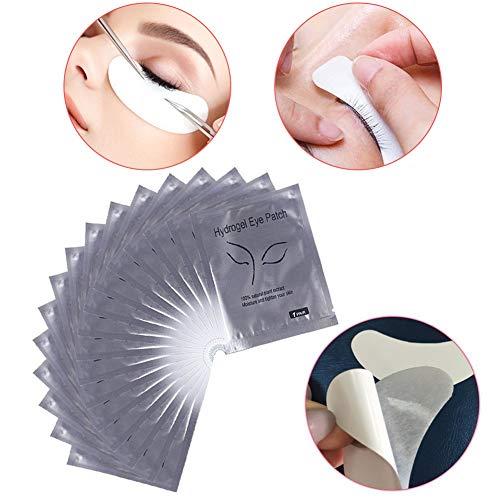 10 Paires Patchs Pour Extensions de Cils Gel, Gel Yeux Patchs Cils Pad Patch Oculaire Dédié Aux Cils pour Coloration Lash Extension Cils Outil de Maquillage de Beauté(Argent)