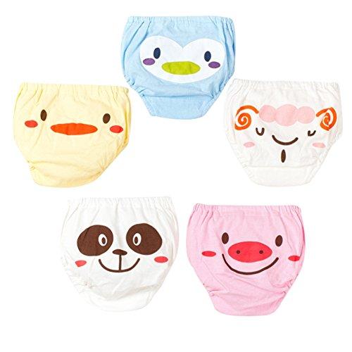G-Kids 5 Pack Baby Trainerhosen Training Pants Unterhose Kleinkind Mächen Jungen Niedlich Cartoon Windelhöschen Töpfchentraining S