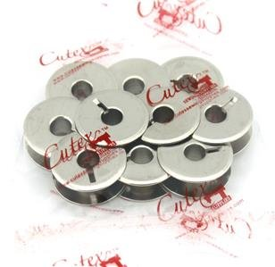 Cutex (TM) Brand 10 Pk. Metal Bobbin #82552 for Singer 29K Class, 29K72, 29U171 Sewing Machines