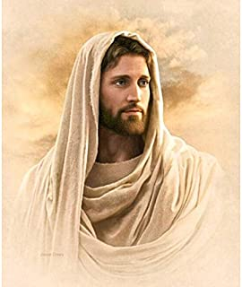 Diy Oil Painting Paint by Number Kit for Adult Kids,Religious Jesus,16X20 Inch
