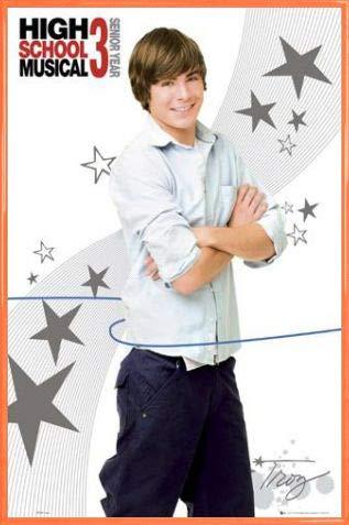 1art1 High School Musical Póster con Marco (Plástico) - 3, Troy Casual (91 x 61cm)