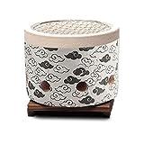 Barbacoas de Carbon Portatiles Estufa de carbón de leña cilíndrica japonesa de mini estufa, 15 cm de diámetro para acampar al aire libre, jardín de la barbacoa de jardín Tabla de protección de piso de
