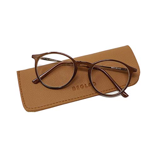 BEGLAD(ビグラッド)おしゃれなケース付老眼鏡 BE1020 3カラー トレンドカラーとボストン型がおしゃれ ケースの淡い色合いが可愛い