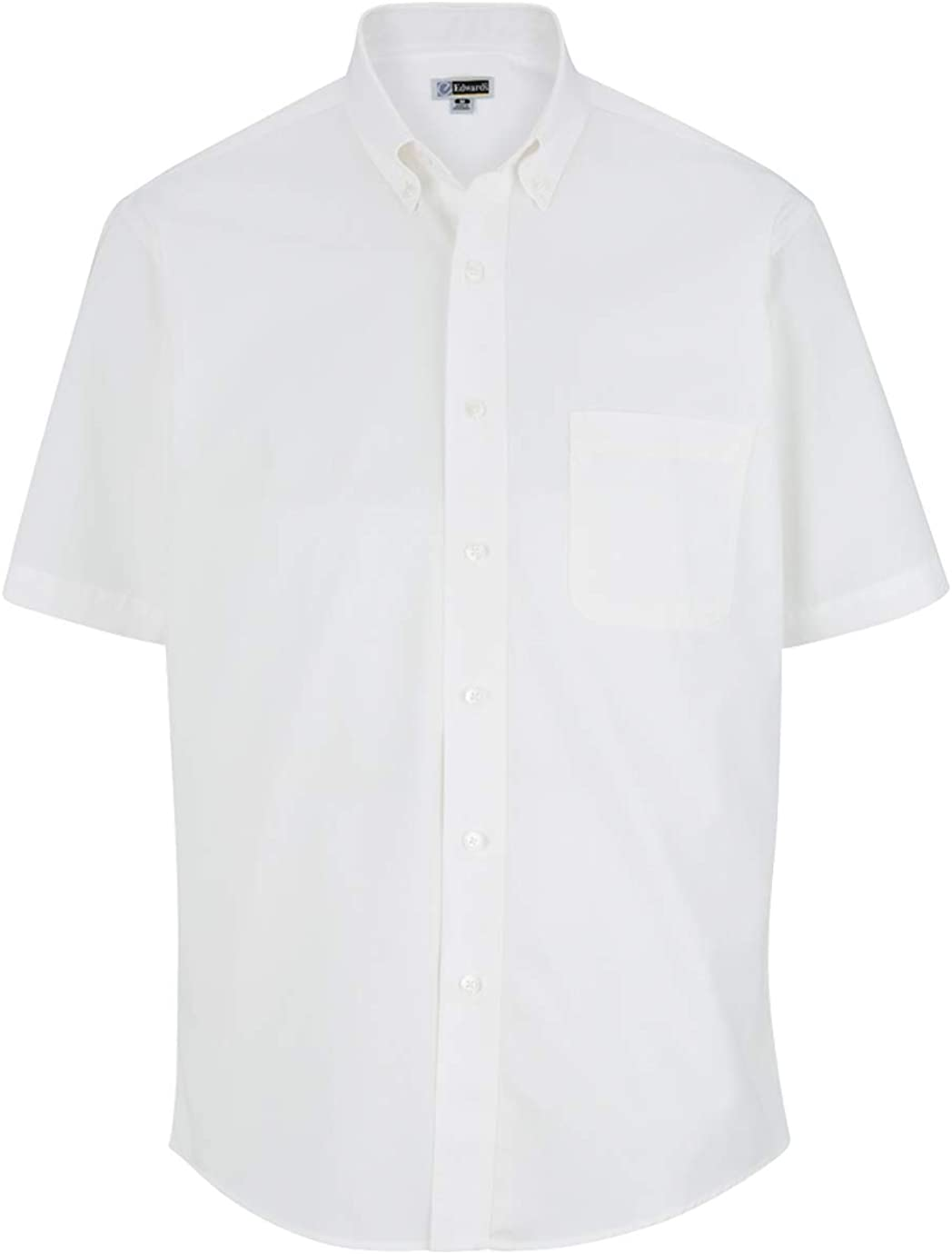 Edwards Garment Men's Casual Wrinkle Resistant Short Sleeve Poplin Shirt