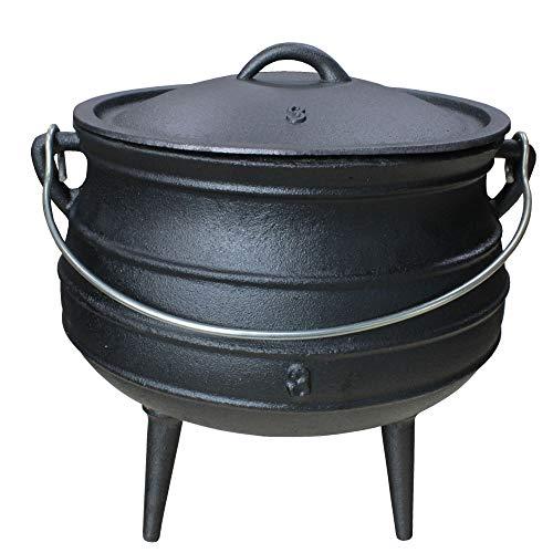 Grillmaster Gusseisen Dutch Oven African Pott Feuertopf Grill Lagerfeuer Topf Eingebrannt 8 L