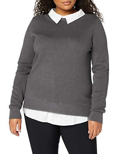 ESPRIT Damen 100EE1I314 Pullover, 019/GUNMETAL 5, M