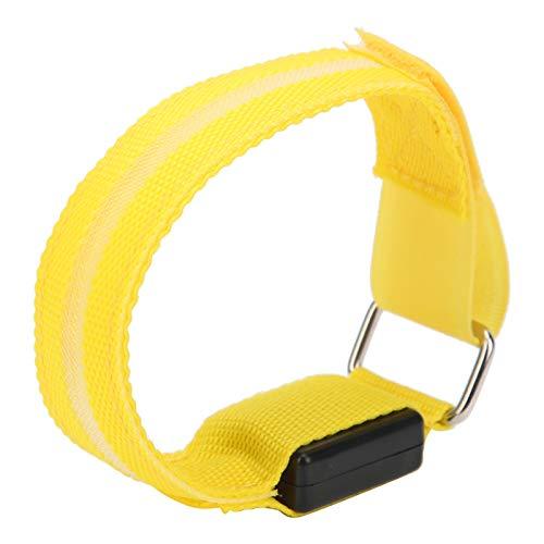Kadimendium Luces de Carrera LED de energía eólica, Pulsera de Supervivencia Ajustable de Cualquier tamaño con LED, conmutadas libremente para Ciclismo para Atletas para Deportes al Aire(Yellow)
