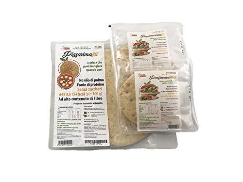 1 Pizza Rima + 2 Panfocaccia - Base per pizza e focaccia Low carb - basso contenuto di grassi - dietetica