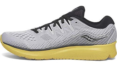 Saucony - Zapatillas Ride ISO 2 para Hombre, Gris / Amarillo, 42.5...