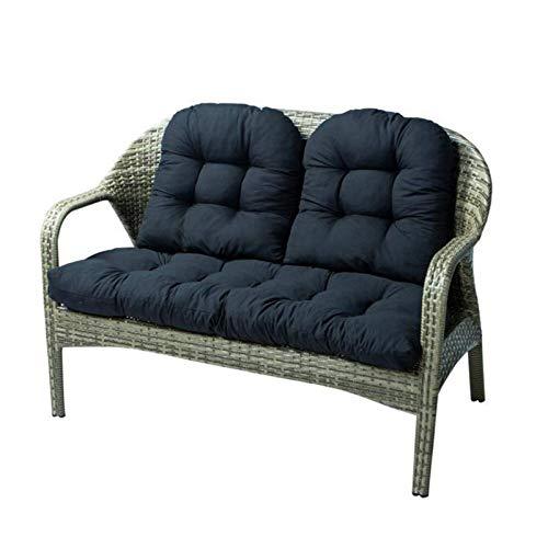 MissZZ Cojín para Banco de algodón para Patio de 3 Piezas, Cojines para sofá de Dos plazas para Muebles de jardín, Almohadillas para Asientos reclinables para sillas reclinables (la Silla no está i