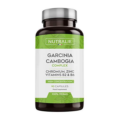 NUTRALIE | Garcinia Cambogia | Brûleur de Graisse et Coupe Faim 100% Naturel | Haute Concentration 60% HCA | 90 Gélules Vegans