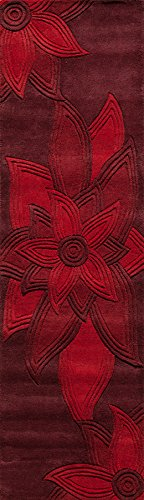 Momeni Rugs Delhi Collection Teppichläufer, 7,6 x 2,4 m, Rot