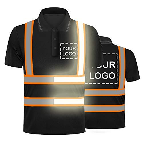 Hi-Vis Viz Visibilidad Seguridad Trabajo Polo Camisa Personalizada Su Logo En Alta Reflexiva Seguridad Camiseta Transpirable Ligero Trabajo Ropa Superior