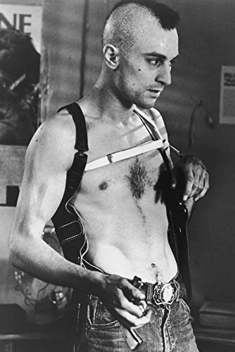 Erthstore 11x17 inch Wall Poster of Robert De NIRO Bare Chested with Mohawk Haircut Taxi Driver