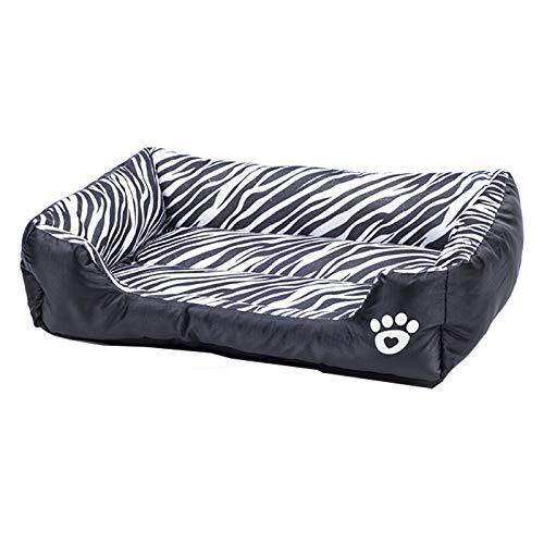 ZGTQC Huisdier Katoen Nest Dier Patroon Kennel Hondenmand Oxford Doek Kleine En Middelgrote Hond Teddy Bomei 68 cm x 55 cm x 16 cm Zebra Patroon
