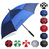 BAGAIL Golf Umbrella 68 Inch Large Oversize Double Canopy Vented Windproof Waterproof Automatic
