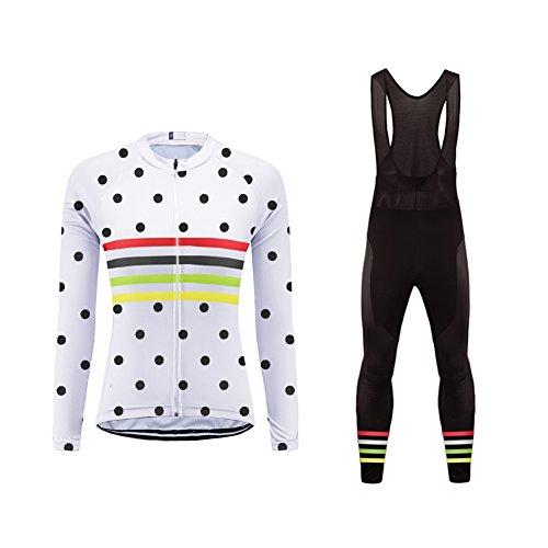 Uglyfrog Completo Ciclismo Invernale Donna MTB Maglia Bici Manica Lunga+Salopette Ciclista Gel per Squadra Professionale RTWL01