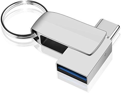 NINECY - Memoria USB de 64 GB, 2 en 1, USB C (USB 3.0 + tipo C)