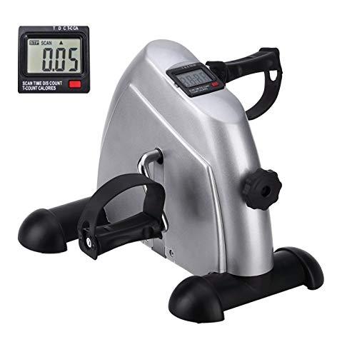 Uten Mini Bicicleta de apartamento con Monitor Digital y Pedal Antideslizante, Ligera, fácil de Usar, Almacenamiento y Resistencia Ajustable, Dispositivo para Trabajar piernas y Brazos