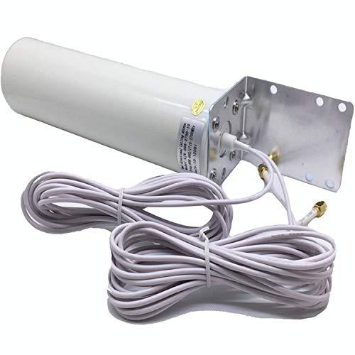 RHG 4G LTE Antena 3G 4Gwifi antena exterior con 5 M Doble Empalme Crc9 / Ts9 / SMA Conector para módem 3G 4G