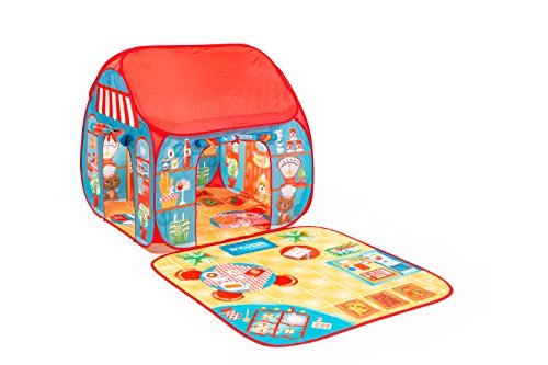 Pop-It-Up Restaurant Shop Play Tent with Outside Play Mat by Fun2Give