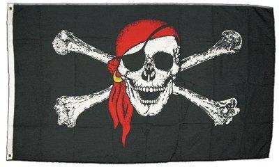 Flagge Pirat mit Kopftuch - 60 x 90 cm