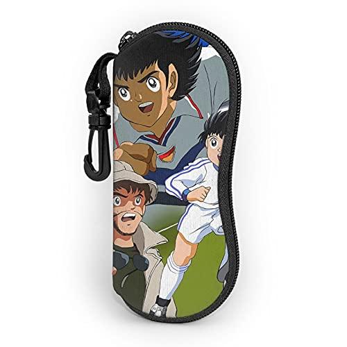 Captain Tsubasa Ultra-Leggero Portatile Neoprene Zip Hard Shell Occhiali Caso Con Moschettone Occhiali Da Sole Caso Per Uomo Donna