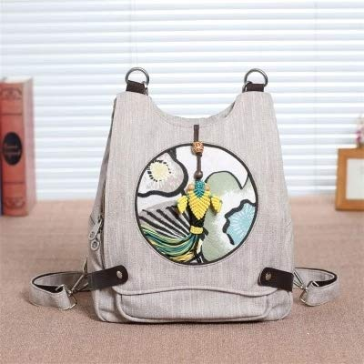 L Appliques Travel Backpacks!Hot Printed Small Women Backrack Embossing backruck Lady Multi-use backruck (Color : 3)