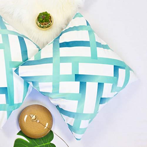 Offtopic Juego de 2 fundas de cojín para sofá, 45 x 45 cm, de terciopelo suave, cojines decorativos elegantes con diseño italiano y moderno, lavable a máquina y diamantes de color verde