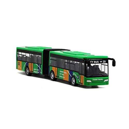 Local Makes A Comeback Bus-model met geavanceerde versie van camouflage met dubbele doorsnede, bus-speelgoed, groen