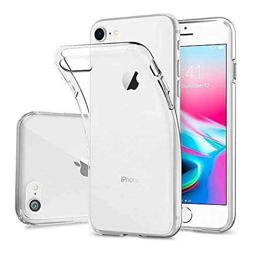 DOSMUNG Hülle für iPhone 7 iPhone 8 SE 2020, Schutzhülle für iPhone 7 iPhone 8 Handyhülle, Ultra Clear Silikon Gel TPU Soft, Anti-Kratz Backcover Handyhülle TPU Hülle für iPhone 7/8/SE 2020