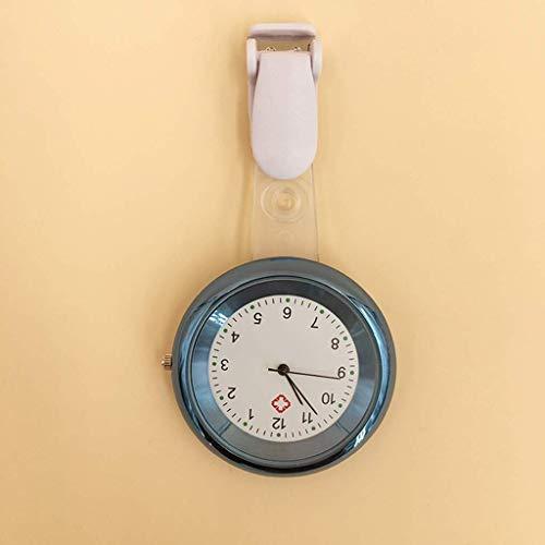 Klassische stilvolle Taschenuhr.Krankenschwester Taschenuhr / hängende Uhr, mit Nadel / Silikon Clip Infektionskontrolle Große Zifferblatt-Truhe, medizinische Pflege-Personalbrosche Hängende Tabelle ,
