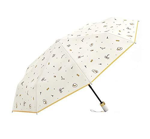 Compacte Travel Paraplu Licht Vouwen 2 Persoon Paraplu Outdoor Dames Draagbare Paraplu UV Bescherming Winddichte Paraplu