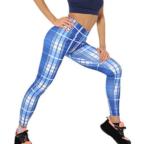 QIMANZI Sporthose Damen Damen Hosen Lang Bedrucken Pumphose Haremshose Sommerhose Yogahose Aladinhose Baggy Harem Stil mit Elastischen Bund(B Blau,XL)