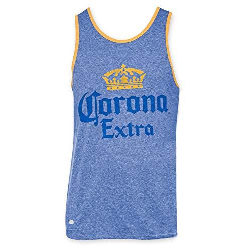 Corona Extra Men\'s Blue Pop Top Tank Top - Large